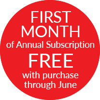 One Month Free with Purchase For a Limited Time