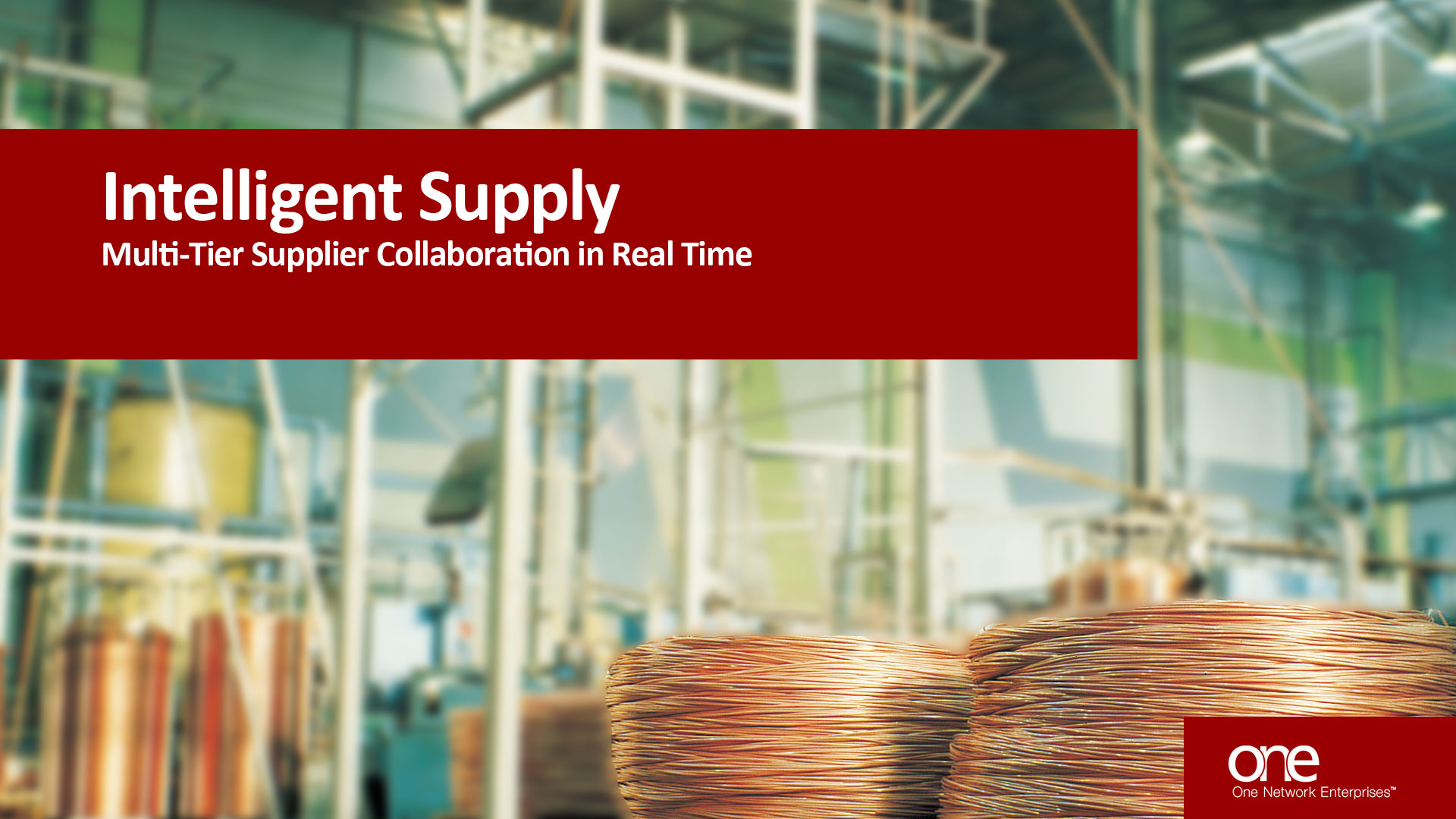 Multi-Tier Supplier Collaboration Solution Video