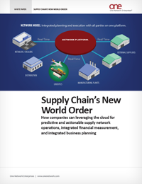 Supply Chain's New World Order - leveraging the cloud for superb supply chain performance