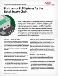 Two Supply Chain Models for Retail: Push vs Pull