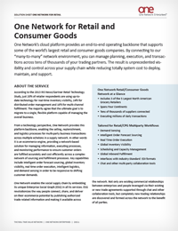Supply Network for Retailer and Consumer Products