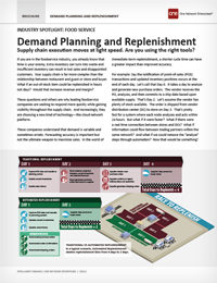 Demand Planning and Replenishment Solution