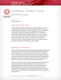 Supply Chain Control Towers Value Matrix - Nucleus Research