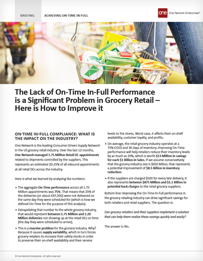 How retailers and suppliers can achieve on-time, in-full performance