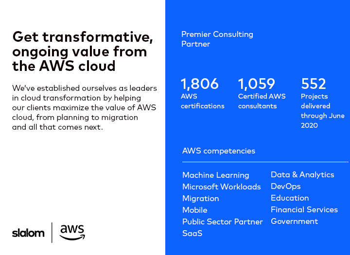 Transformative value from the AWS cloud