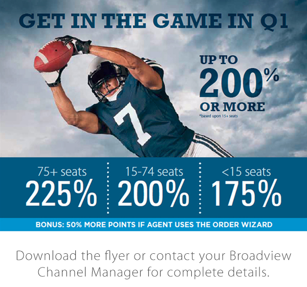 Get in the Game with Broadview's Q1 Spiff!