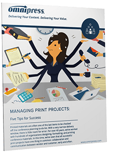 Managing Conference Print Projects