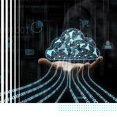 Abstract digital cloud image