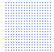 several blue dots in a lines