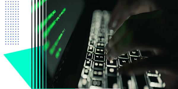 Dark computer screen with code