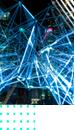 blue lights metal sculpture
