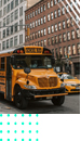 school bus in city
