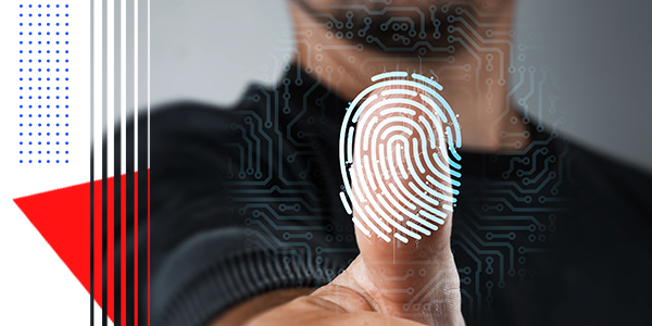 Picture of a cybersecurity thumbprint