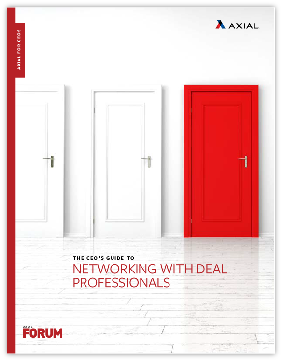 The CEO's Guide to Networking with Deal Professionals