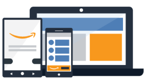 Ads appear above and within search results and on product detail pages, across desktop and mobile.