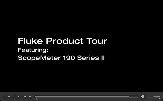 Fluke Product Tour ScopeMeter 190 Series II