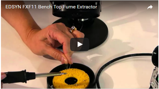 EDSYN FXF11 Bench Top Fume Extractor in Action