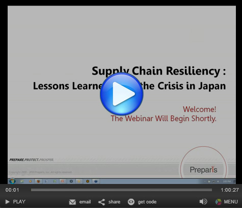 Supply-Chain Resiliency: Lessons Learned from the Crisis in Japan Webinar