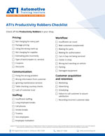 ATI's Productivity Robbers Checklist