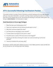 ATI's Successful Meetings Facilitation Packet