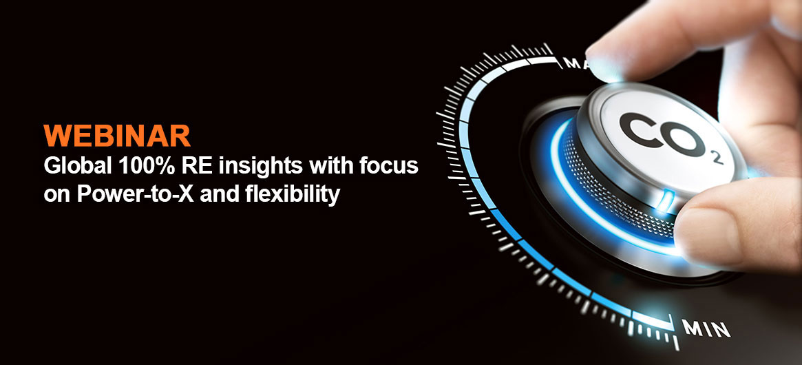 Global 100% RE insights with focus on Power-to-X and flexibility