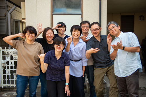group photo of a Japanese sign language team