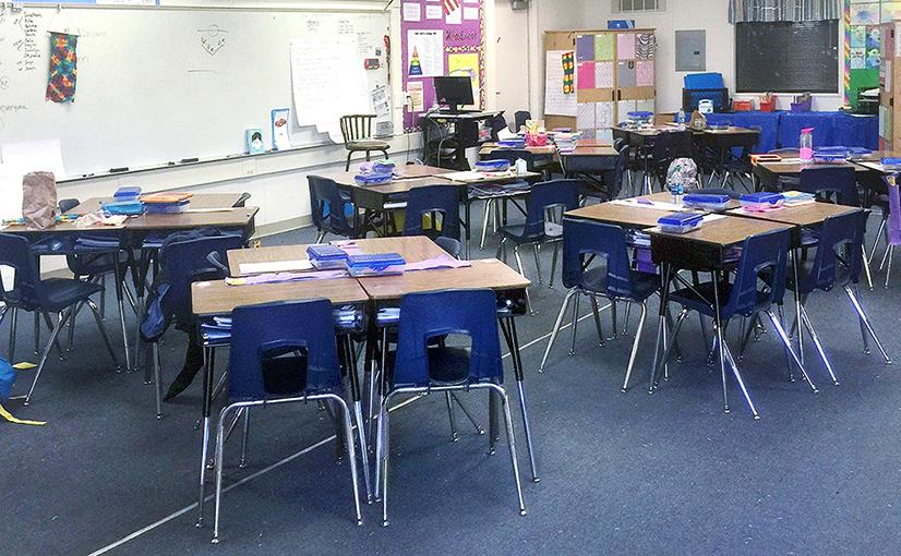 Sheridan Way Elementary School Classroom Before the Ruckus Grant Program