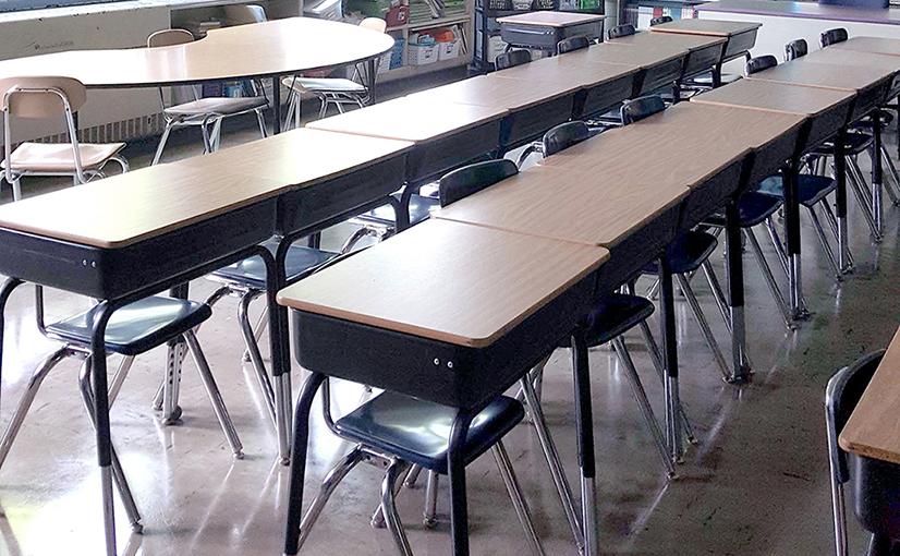 Thomas Jefferson High School Classroom Before the Ruckus Grant Program