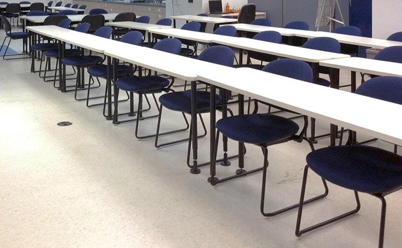 Washington University St. Louis Classroom Before the Ruckus Grant Program