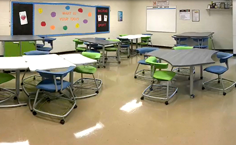 Madras Middle School Classroom After the Ruckus Grant Program