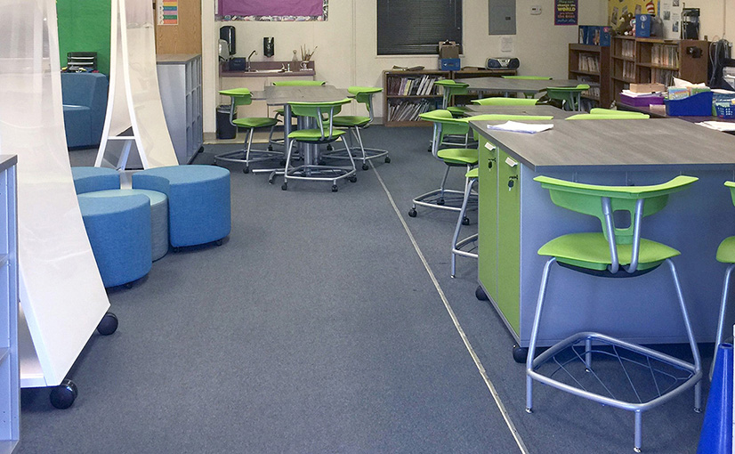 Sheridan Way Elementary School Classroom After the Ruckus Grant Program