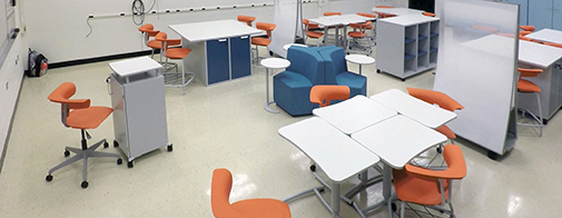 Classroom furnished with Ruckus Grant Program