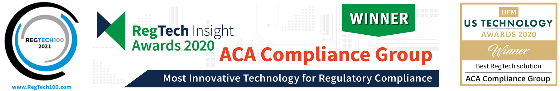 ACA RegTech awards logos