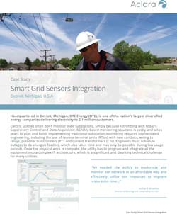 DTE Energy Smart Grid Sensors Integration