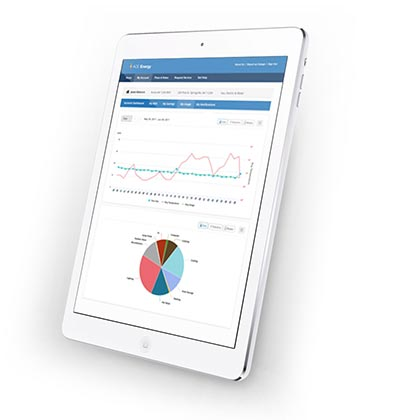 Aclara Adaptive Consumer Engagement ACE plaftom - Tablet view