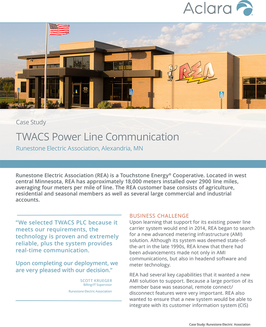 TWACS Power Line Communication - Aclara