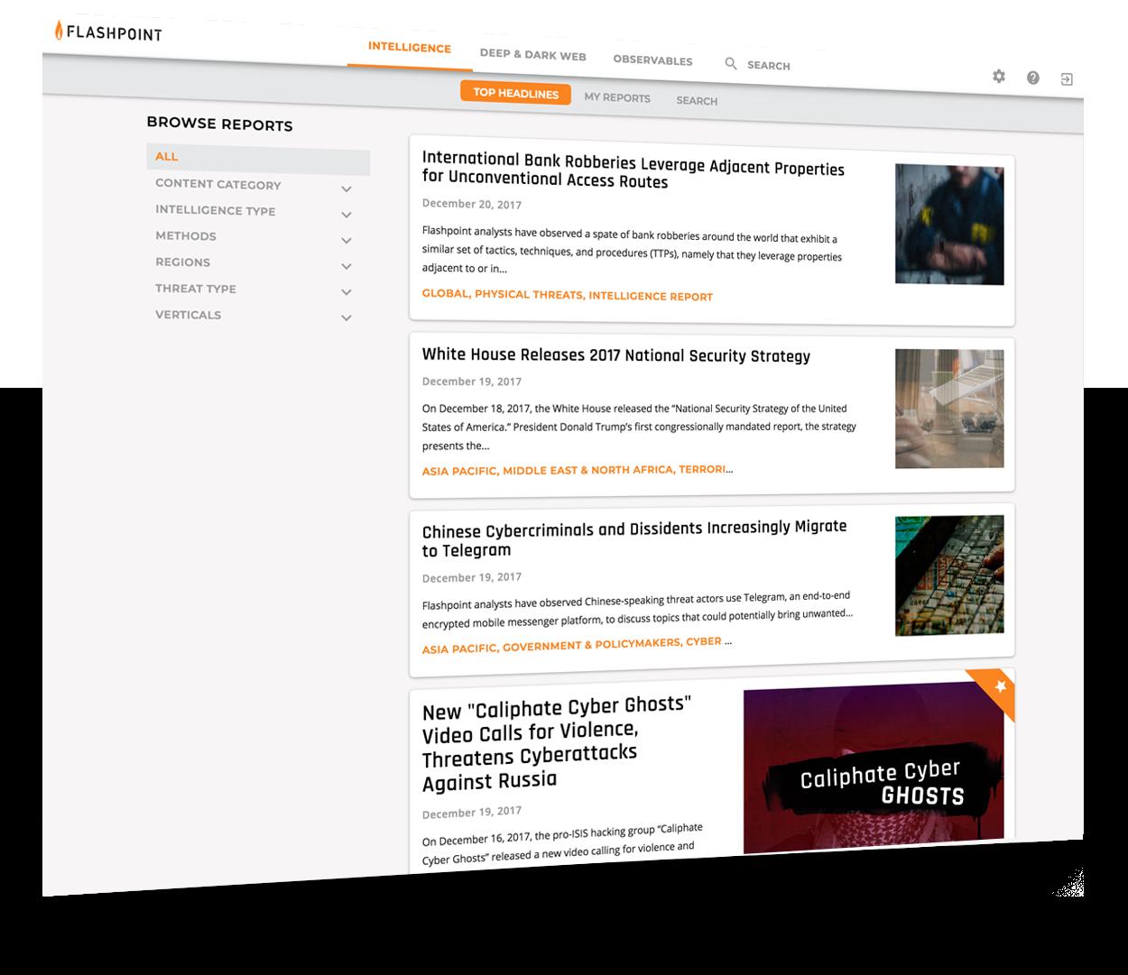 Flashpoint Intelligence Platform