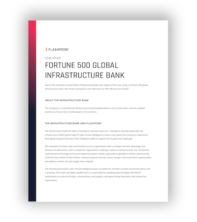 Fortune 500 Global Infrastructure Bank