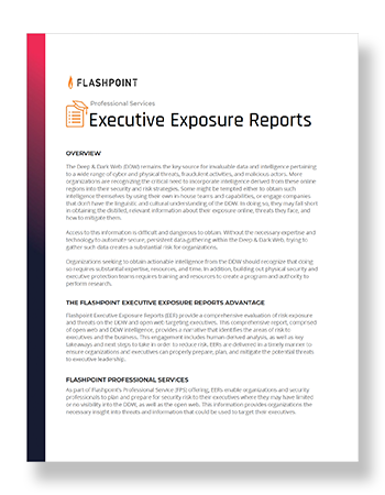 Professional Services: Executive Exposure Reports