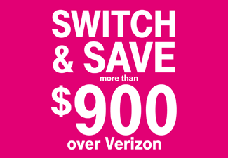 Switch & Save $900 over Verizon