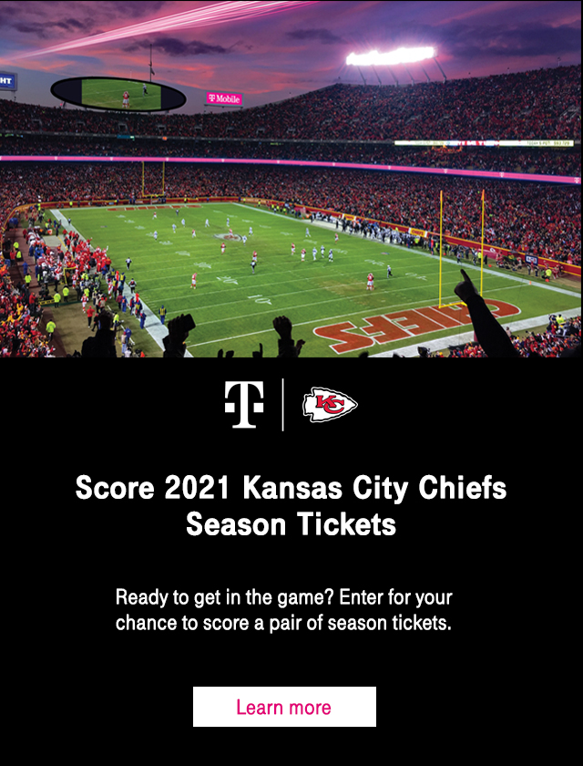 Enter to win Kansas City Chiefs season tickets