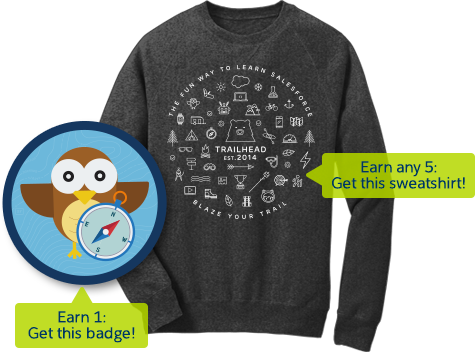 Salesforce Trailhead Sweatshirt