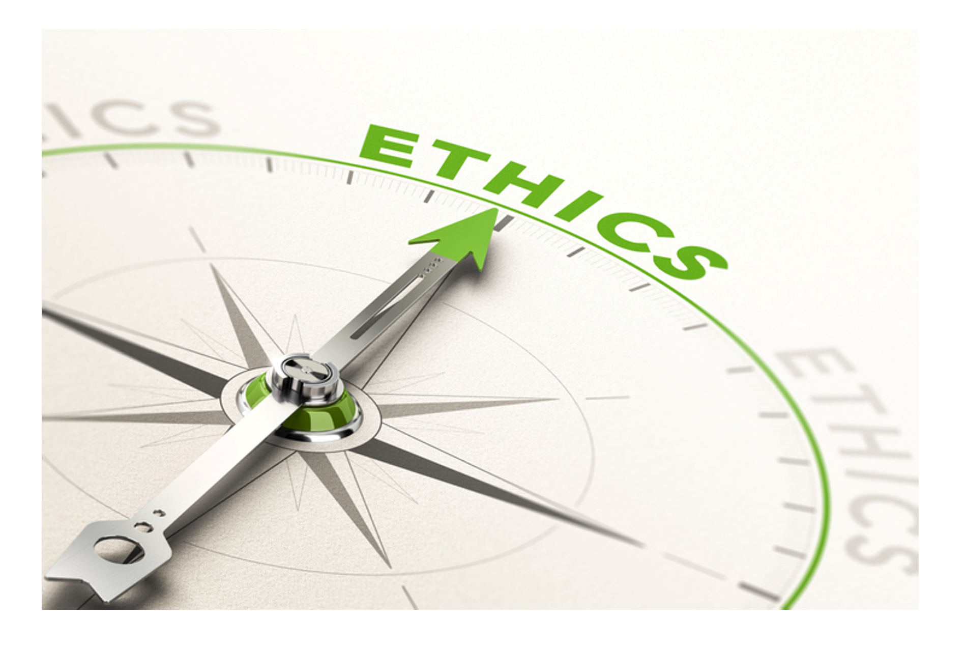 """Compass Pointing Towards the Words """"Ethics"""""""