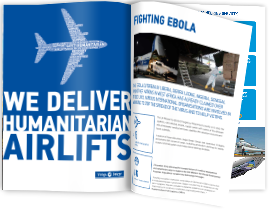We deliver humanitarian airlift brochure cover