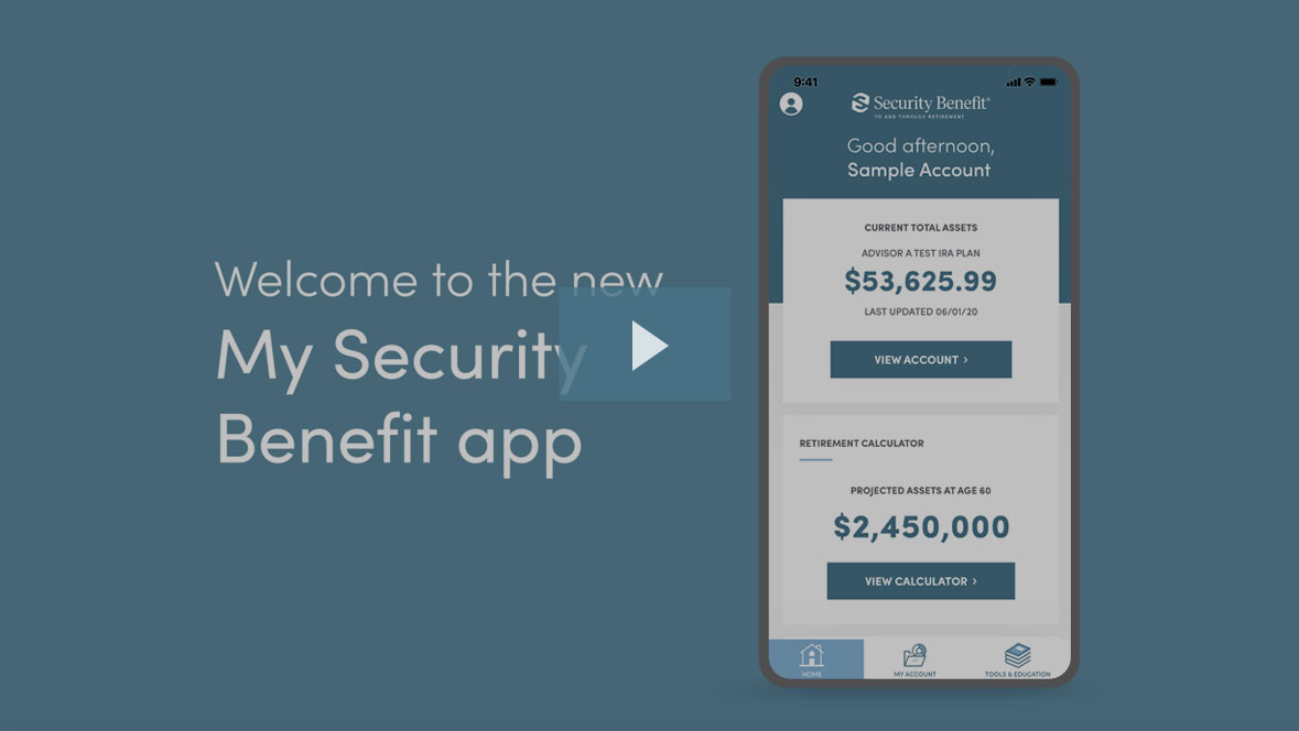 Quickly view a short clip on the My Security Benefit app
