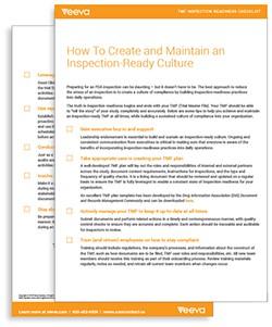 Veeva Inspection Readiness Checklist Thumbnail