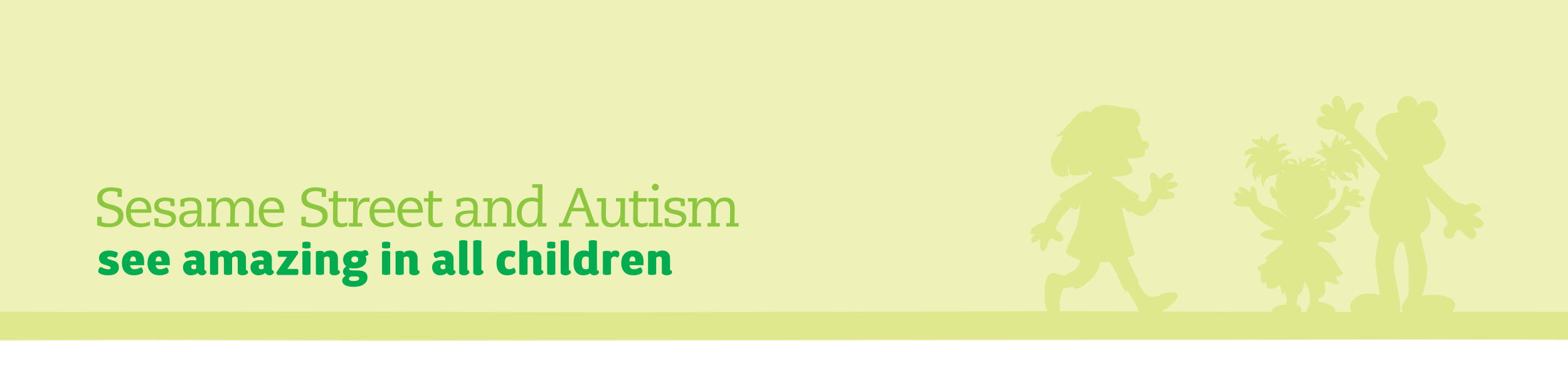 <em>Sesame Street</em> and Autism: see amazing in all children