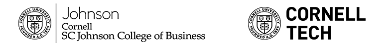 Johnson and Cornell Tech logos