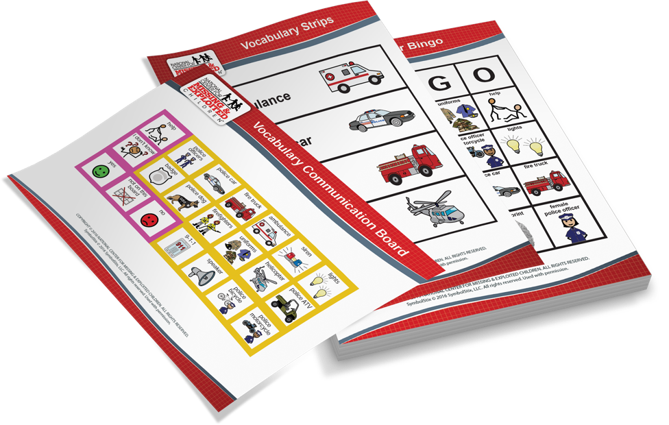 NCMEC Sensory Friendly First Responder Event packet