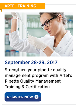 Pipette Quality Management Certification